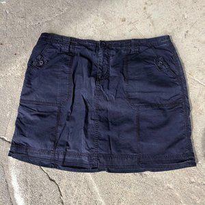 Navy Blue Mini Skirt - Small
